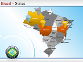 Map of Brazil powerpoint theme download
