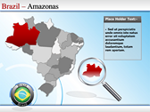 Map of Brazil powerpoint theme templates