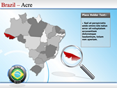 Map of Brazil powerpoint theme professional