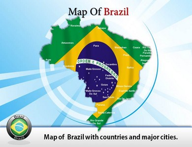 Map of Brazil PPT Presentation Template