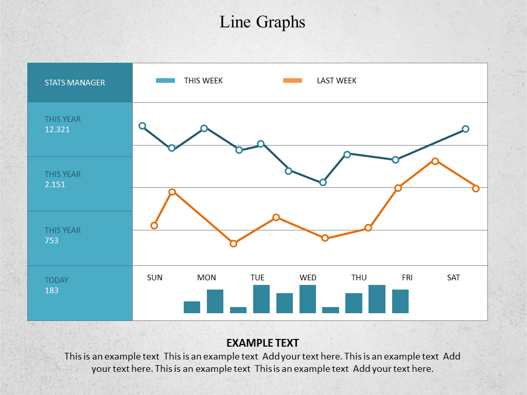 powerpoint line graph template