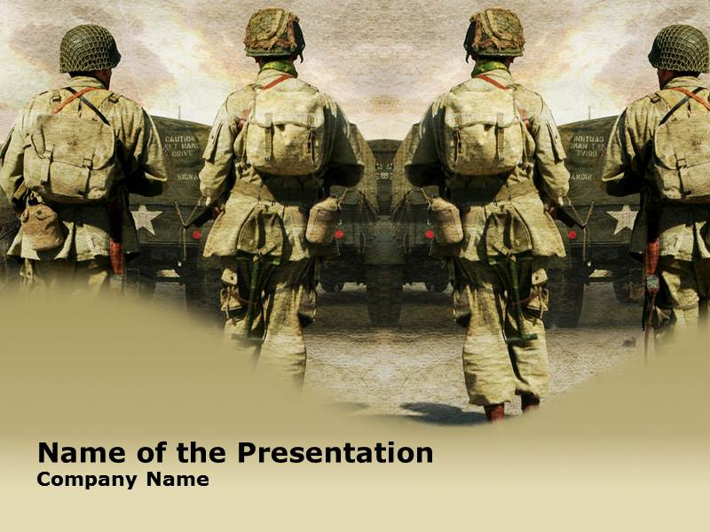 soldier powerpoint template background of army, military, Modern powerpoint