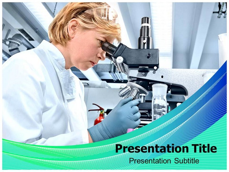 Powerpoint Template on Microbiology Laboratory