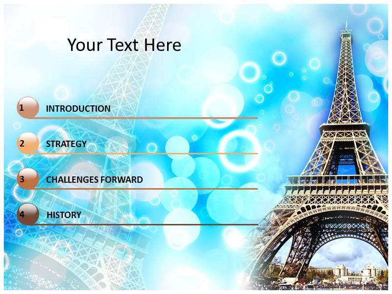 Eiffel tower paris powerpoint templates ppt backgrounds slides download toneelgroepblik Image collections