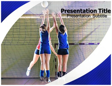 Volleyball with white and blue powerpoint templates backgrounds of volleyball ppt presentation template toneelgroepblik Choice Image