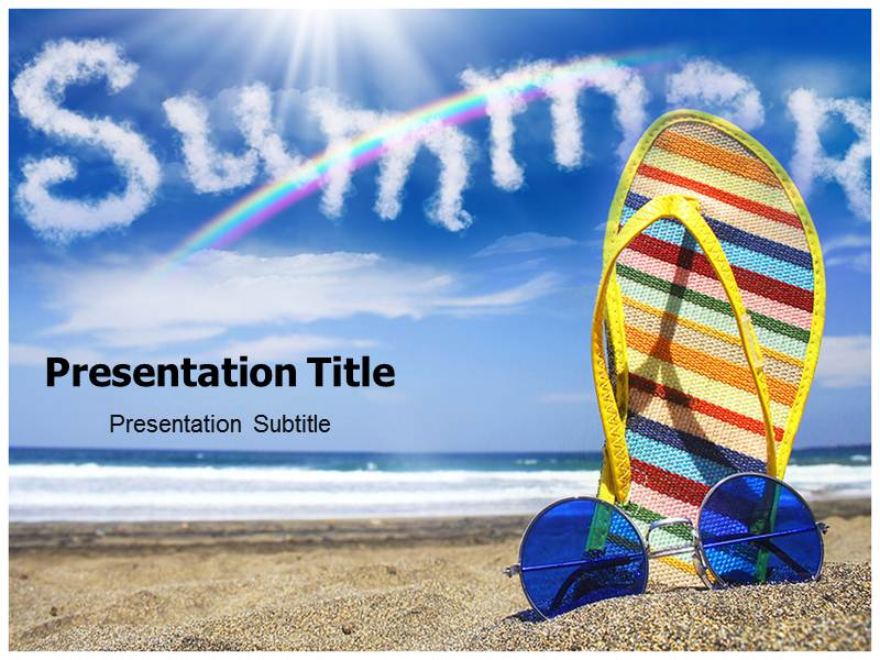 Summer Powerpoint Background Templates  Summer Powerpoint Theme