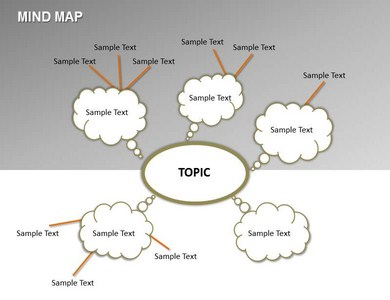 Affordable Mind Map PowerPoint Template Background of Diagram, Chart