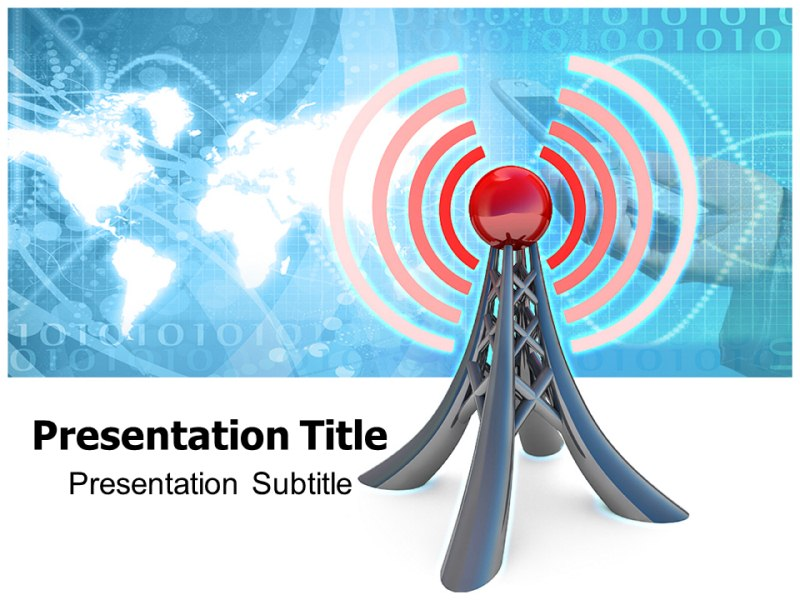 Wireless communication powerpoint templates and backgrounds download toneelgroepblik Choice Image