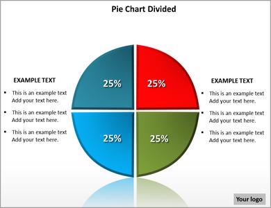 pie chart template powerpoint  klejonka, Powerpoint