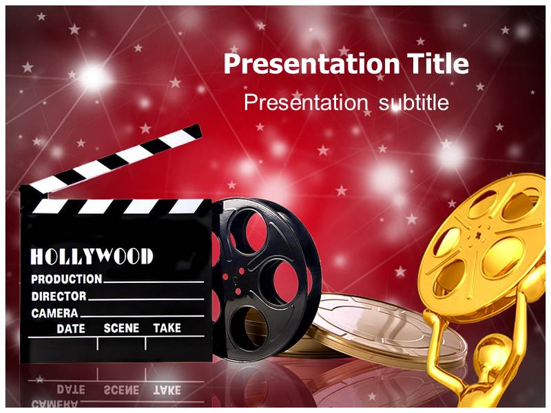 Movie shooting equipment powerpoint templates background of download toneelgroepblik Choice Image