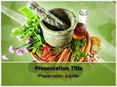 Herbs powerPoint template