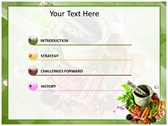 Herbs powerpoint theme download