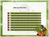Herbs powerpoint theme professional