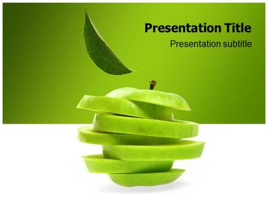 Weird green apple powerpoint templates and backgrounds weird green apple ppt presentation template toneelgroepblik Gallery