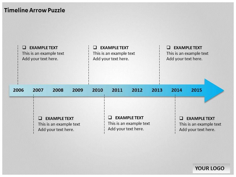 timeline arrow puzzle chart powerpoint templates and
