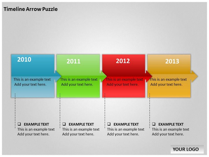 3d timeline powerpoint template timeline arrow puzzle chart powerpoint templates and backgrounds toneelgroepblik Gallery