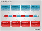 Timeline Arrow Puzzle Chart powerPoint templates