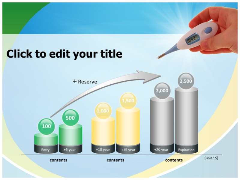 Thermometer powerpoint template
