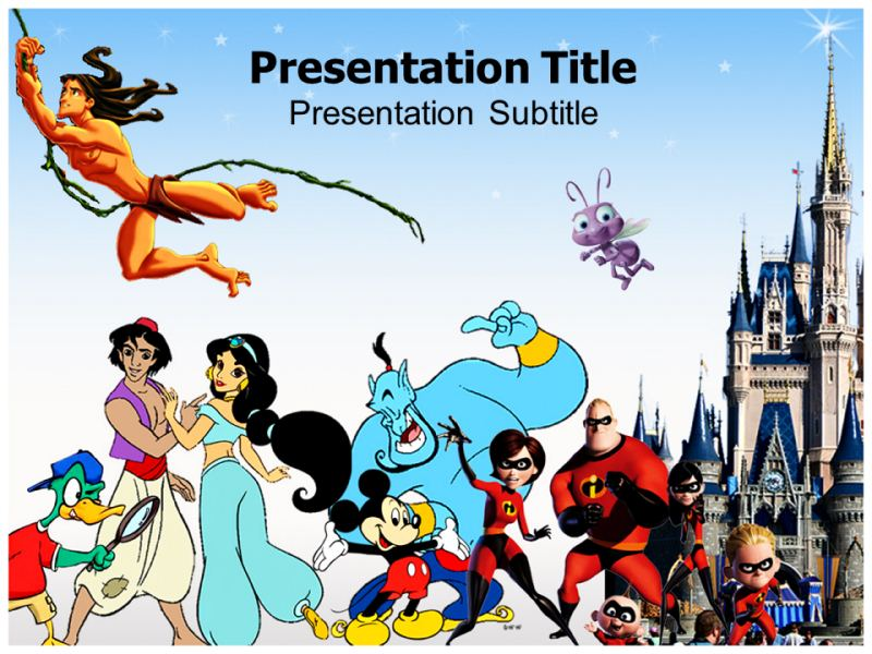 disney cartoons powerpoint templates and backgrounds