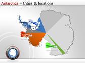 Map of Antarctica powerpoint template download