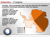 Map of Antarctica power Point templates