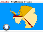 Map of Antarctica power point background graphics
