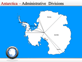 Map of Antarctica power Point theme