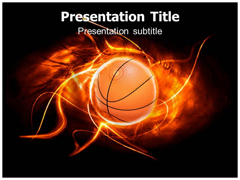 basketball with black powerpoint templates backgrounds of