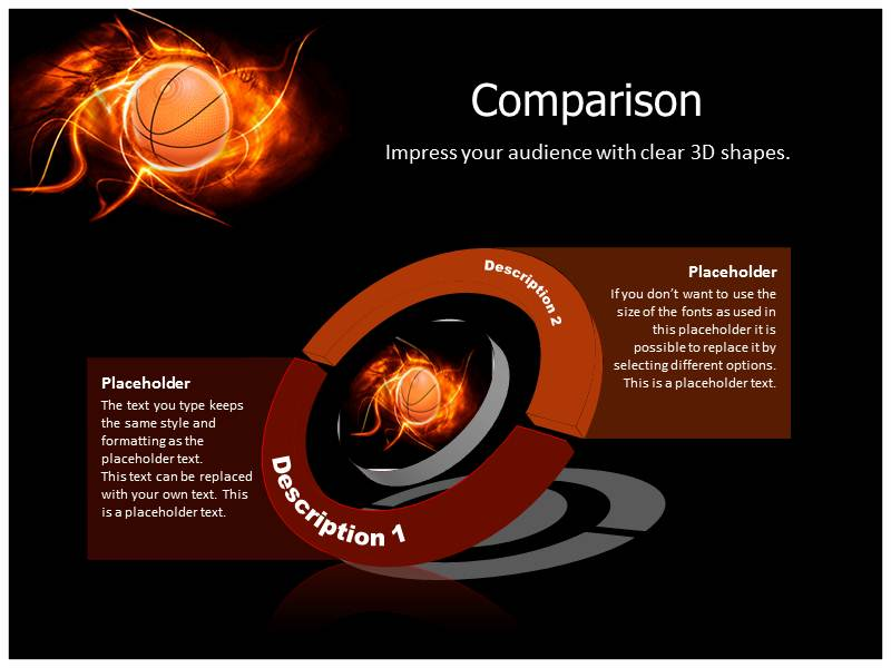 Basketball with Black PowerPoint Templates Backgrounds of Ball – Basketball Powerpoint Template