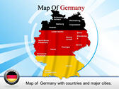 Map of Germany powerPoint template