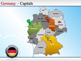 Map of Germany ppt templates