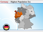 Map of Germany slides for powerpoint