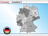 Map of Germany power Point templates
