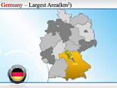 Map of Germany powerPoint backgrounds