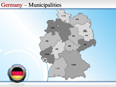 Map of Germany background PowerPoint Templates