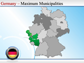 Map of Germany powerPoint background