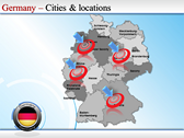 Map of Germany powerpoint backgrounds download