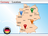 Map of Germany power Point Backgrounds