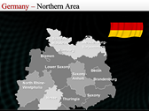 Map of Germany themes for power point