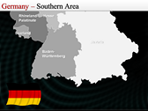 Map of Germany design for power point