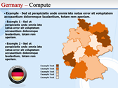 Map of Germany full powerpoint download