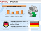 Map of Germany power point background graphics