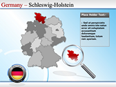 Map of Germany powerPoint themes