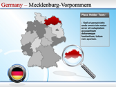 Map of Germany power Point theme