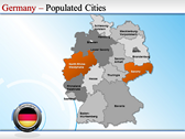 Map of Germany powerpoint theme download