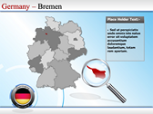 Map of Germany powerpoint theme professional