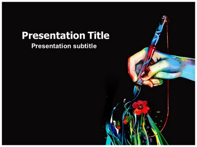 art powerpoint templates and backgrounds, Powerpoint