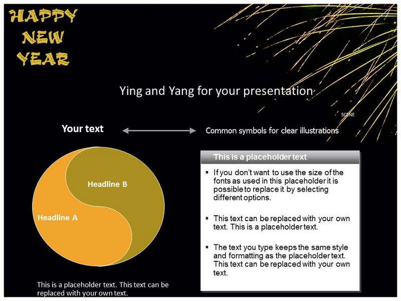New Year Messages Powerpoint Templates And Backgrounds