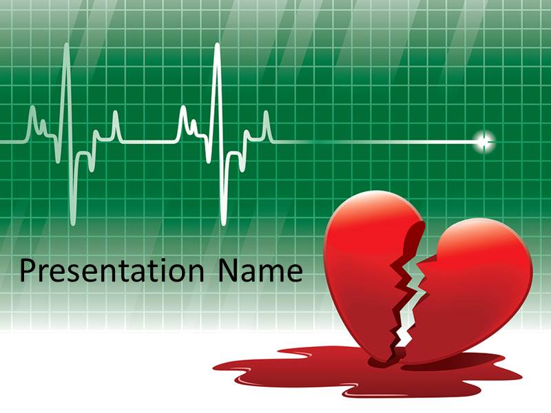 electrocardiogram powerpoint template background of ecg