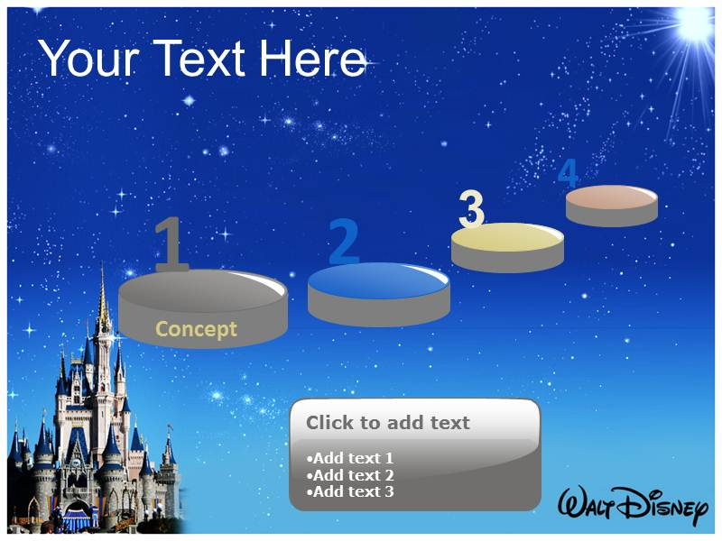 disney world powerpoint template background of cartoon, powerpoint, Modern powerpoint